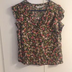 Zara Ditsy floral print blouse
